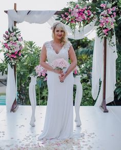 Look at our beautiful bride on her wedding day surrounded by tropical beauty! Make your dream wedding come to life at #TheCamakilaLegianBali with the help of our experts.  Find out more through the link on our bio, or email us at wedding@nilamanihotels.com  www.camakilabali.com #TheCamakilaLegianBali #camakilabali #camakila #legian #bali