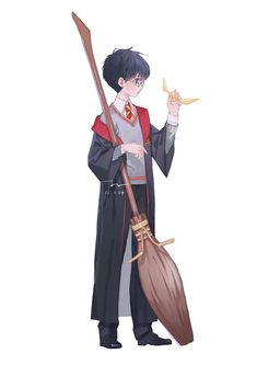 Aw he looks so cute ❤️ Harry Potter Cartoon, Cute Harry Potter, Mundo Harry Potter, Harry Potter Artwork, Theme Harry Potter, Harry Potter Drawings, Harry James Potter, Harry Potter Wallpaper, Harry Potter Pictures