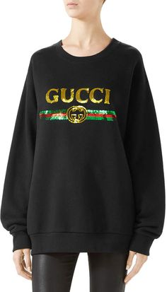 be8b82386 GUCCI Designer Rainbow Sequin Logo Hoodie   Avivey (Style Lives Here ...