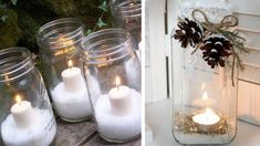 50 decorating ideas for a winter wedding - New sites Wedding Looks, Perfect Wedding, Make Ready, Candle Sconces, Glass Vase, Wall Lights, Reception, Mason Jars, Marriage