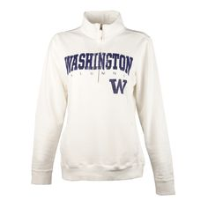 This men's quarter zip collared sweater from Gear For Sports geatures an embroidered Alumni logo to show your Husky graduate pride in comfort and style.