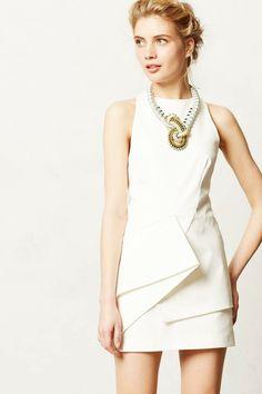 Vestido branco - gola alta