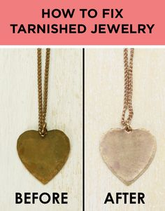 Make tarnished jewelry look new again with this DIY cleaning hack.