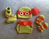 Crochet Ninja Turtle outfit