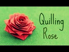 ▶ How to make a rose with a paper stripe (Quilling Rose) - YouTube