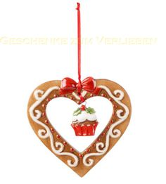Villeroy & Boch Winter Bakery Decoration Ornament Lebkuchenherz 8 cm