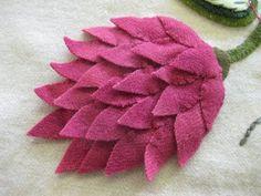 Sue Spargo - layered felt flower