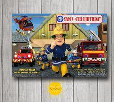 Image Of 5060107040571 FIREMAN SAM MURAL. See More. Boy Birthday Invitation  Personalised Door HappyLittleSunshineD