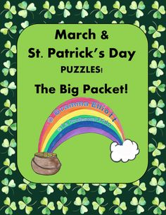 St. Patrick's Day Puzzles! The puzzles included in this packet are wonderful to use for literacy centers, but are also great for fast finishers!