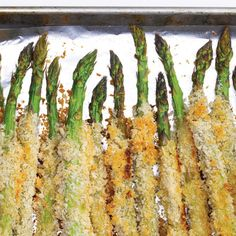 Parmesan and Panko Crusted Asparagus #BiteMeMore #recipe