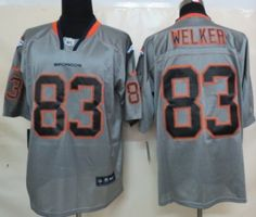 Nike Denver Broncos #83 Wes Welker Lights Out Gray Elite Jersey