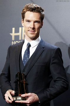 HOLLYWOOD FILM AWARDS (November 14, 2014) ~ Benedict Cumberbatch wins the Actor award for playing Alan Turing in THE IMITATION GAME.