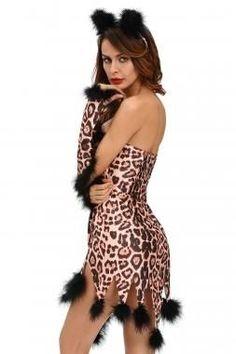 ff55bdb801d Sexy Cheetah Cat Halloween Costume Animal Halloween Costumes
