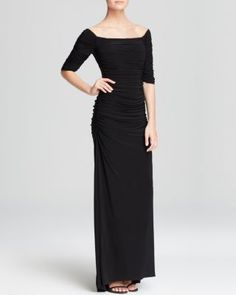 94f8c01925c Badgley Mischka Gown - Off-the-Shoulder Matte Jersey
