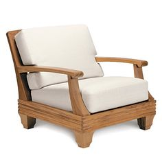 Available through Cabana Home Palazzio Lounge Chair by Giati Wooden Couch, Wood Sofa, Wooden Sofa Set Designs, Wood Design, Diy Furniture Couch, Furniture Design, Sofa Lounge, Muebles Living, Furniture Inspiration