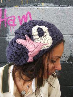 NewHummingbird Wishing For Headphones Slouchy Hat