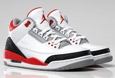Air Jordan Retro 3 White Fire Red-Neutral Grey-Black for sale $119.99 http://www.newjordanstores.com/