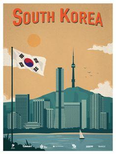 vintage south korea poster - Google Search