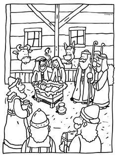 Het kind Jezus geboren