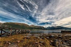 Looking across the fjord -