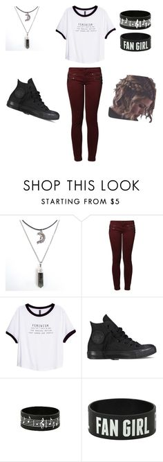 """Untitled #210"" by lkdsao ❤ liked on Polyvore featuring Kaporal, H&M and Converse"