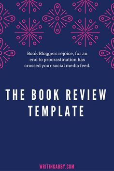 The Simple Book Blogger's Review Template                                                                                                                                                      More