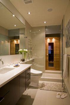Zen Bathroom with far infra-red sauna