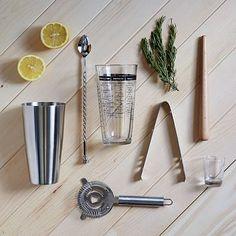 Mixology 7-Pc. Barware Set #westelm $49 Groomsmen gift