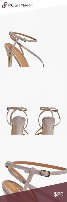 "Boohoo Emma Open Back Two Part Heel- Nude Nude Strappy Heels. Great Condition...worn once! Heel Height: 5.2""/13cm Faux suede material US 10 = Eur 41 Boohoo Shoes Heels"