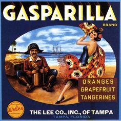 10X10 Tampa FL Gasparilla Pirate Orange Crate Label Print | eBay