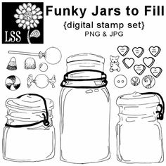 Funky Jar Digital Stamps (Product Front)