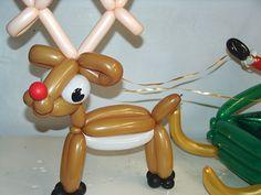 Rudolph Balloons Christmas