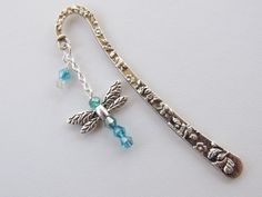 Dragonfly Bookmark Metal Bookmark Beaded by pnljewelrydesigns, $8.00