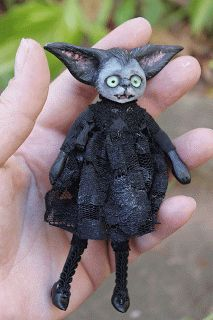 Anne Marie Gibbons Lil' Poes OOAK goth dolls and monsters.