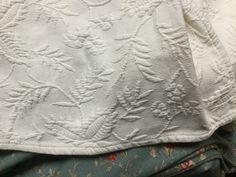 Beautiful Ralph Lauren Ivory Matelasse King dust ruffle by Hannahandhersisters on Etsy