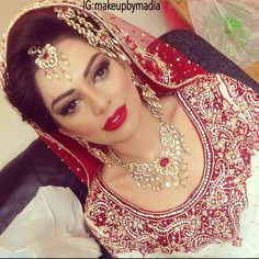 Bridal makeover by Madia on gorgeous Rabia ❤️ 07714886368 for bookings ✨ #makeup #makeupbymadia #mua #makeupartist #bts #iphone #picture #love #red #lips #instadaily #instapics #potd #instahair #instamakeup #kyles #jewellery #hudabeauty #dulhan #bride #bridal #rochdale #client #pakistani #fashion