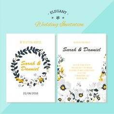 Free Elegant Wedding Invitation by tamaratorres.es