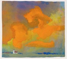 "Emil Nolde (Denmark 1867-1956 Germany), Red and Yellow Cloud, 1930. From the series of ""unpainted paintings"" done secretly between 1938 and 1945 when the Nazis forbade Nolde to paint."