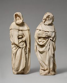 Étienne Bobillet and Paul de Mosselman, Franco-Netherlandish Figurine of Mourners, Bourges, c. 1453 I love sculptures of clothing, you get all sorts of great details in Memento Mori, Renaissance, Post Mortem, Museum Studies, Historical Artifacts, Ancient Artifacts, Danse Macabre, Madonna, European Paintings