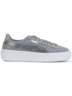 puma sneaker basket platform grau