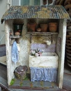 Here's a potting shed for your dollhouse!