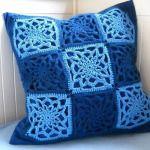 Háčkovaný obal na polštářek Crochet Granny, Diy Crochet, Yarn Over, Knitting Yarn, Fabric Patterns, Throw Pillows, Blanket, Handmade, Inspiration