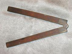 Antique Tools, Vintage Ruler, Wood Ruler, 2-Foot Wooden Ruler, Folding Wood Ruler from the 40s or 50s, 1950s Folding Wooden Ruler by SpiderVintage on Etsy https://www.etsy.com/listing/470629658/antique-tools-vintage-ruler-wood-ruler-2