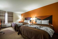 Guest room with queen beds | Sleep Inn and Suites | Madison, WI