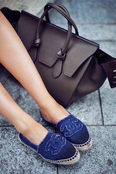 Chanel espadrilles & Céline bag