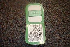 """Link has printable number pad. Can use for """"I can talk to God"""" craft idea."""