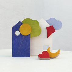 Houses toy puzzle, eco-friendly, toddler blocks toy.
