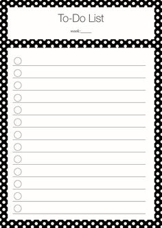 Free Printable To Do List: