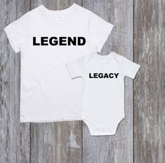630b7422 Father and son matching shirts Dad and baby matching Legend Legacy Father  son gift Father and daughter matching shirts Family matching