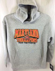 University of Maryland Terrapins Fear The Turtle Gray Sweatshirt Youth Medium #Jamerica #UniversityofMaryland
